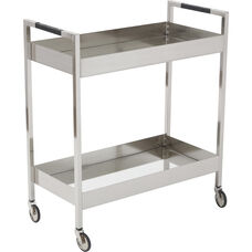 OSP Designs Wilshire Stainless Cart - Brushed Nickel