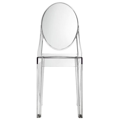 Our Casper Side Chair in Clear is on sale now.