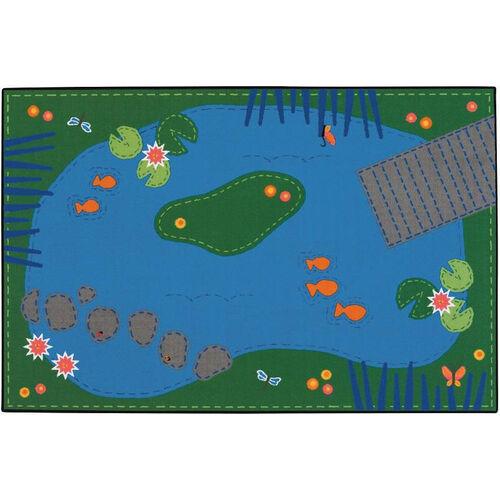 Kids Value Tranquil Pond Rectangular Nylon Rug - 48
