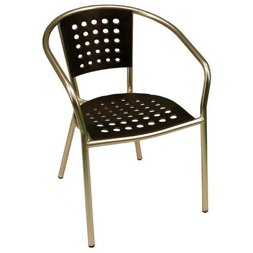 Our South Beach Hand Polished Tubular Aluminum Stackable Club Chair - Black is on sale now.