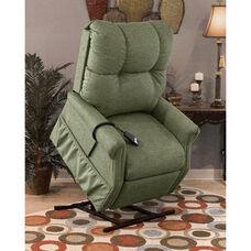 Economy Model Two Way Reclining Power Lift Chair with Magazine Pocket - Dawson Sage Fabric
