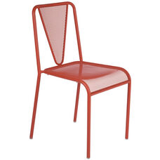 Venice Beach Micro Mesh Stacking Side Chair - Grenadine