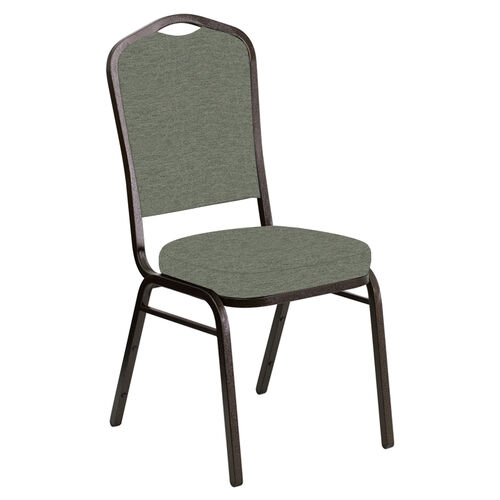 Our Embroidered Crown Back Banquet Chair in Ravine Thyme Fabric - Gold Vein Frame is on sale now.
