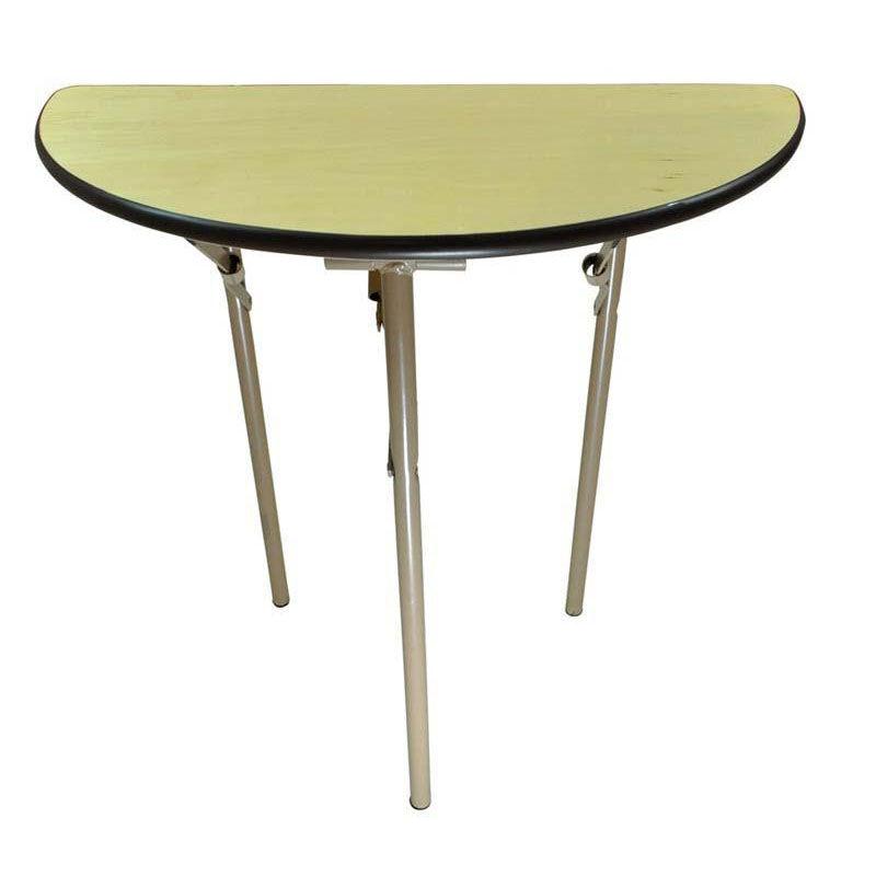 Superieur 30u0027u0027 Rental Elite Series Half Round Folding Table With Non Marring Floor  Glides   30u0027u0027W X 30u0027u0027H X 16u0027u0027D