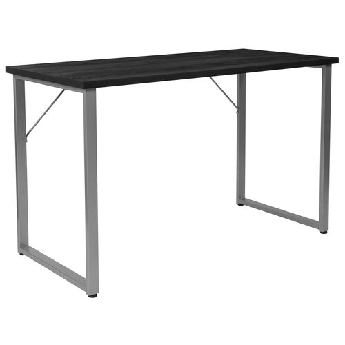 Our Harvey Black Finish Computer Desk with Silver Metal Frame is on sale now.
