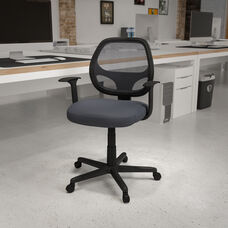 Basics Mid-Back Mesh Swivel Ergonomic Task Office Chair with Arms, Gray, BIFMA Certified