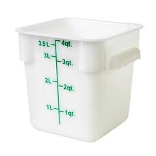 4 Quart Plastic Square Food Storage Container in White
