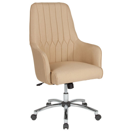Our Albi Home and Office Upholstered High Back Chair in Beige Fabric is on sale now.