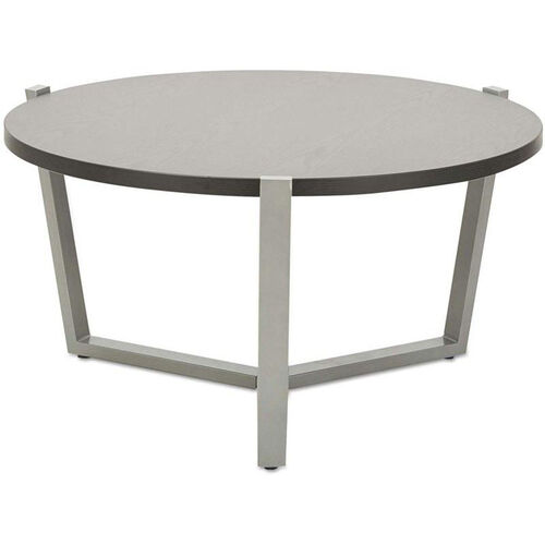 Alera® Round Occasional Coffee Table with Silver Metal Frame and Laminate Top 29.75