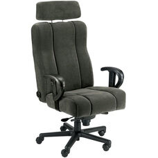 Captain Office Chair with Lumbar Support and Headrest - Leathermate