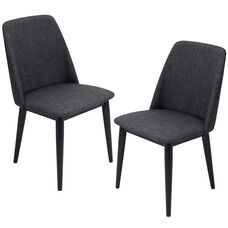 Tintori Dining Chairs in Charcoal - Set of 2