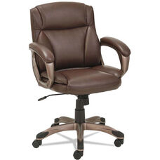 Alera® Veon Series Low-Back Leather Task Chair with Coil Spring Cushion - Brown