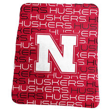 University of Nebraska Team Logo Classic Fleece Throw