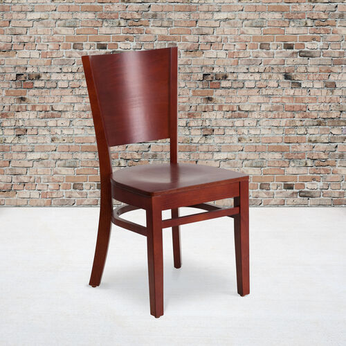 Our Mahogany Finished Solid Back Wooden Restaurant Chair is on sale now.