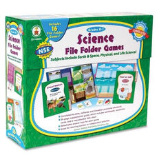 Carson-Dellosa Publishing Science File Folder Game - 16 Games - Grades K -1