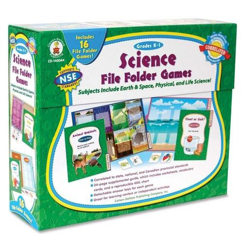 Our Carson-Dellosa Publishing Science File Folder Game - 16 Games - Grades K -1 is on sale now.