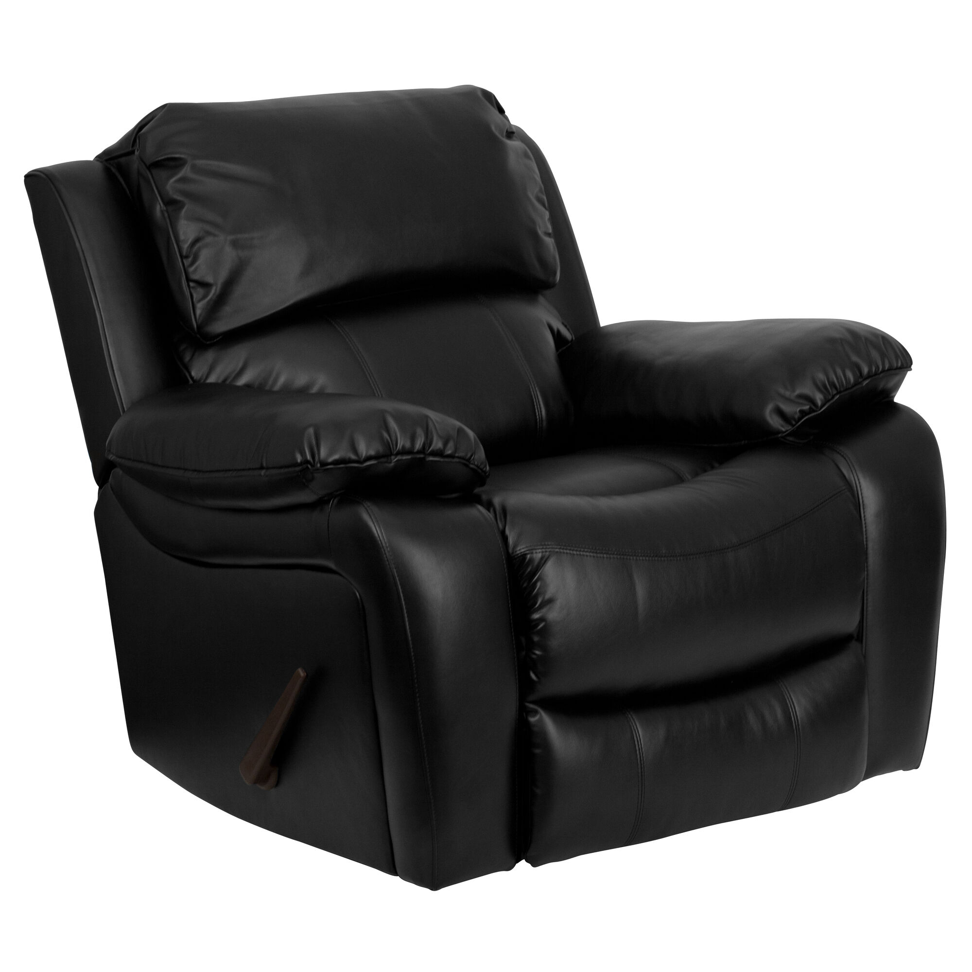 Our Black Leather Rocker Recliner Is On Sale Now