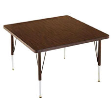 Customizable Square Non Folding Adjustable Height Activity Table with Chrome Inserts - 48