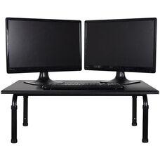 Adjustable Height Steel Frame Desktop Standing Desk - Black - 32
