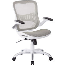 Ave Six Riley Mesh Office Chair - White
