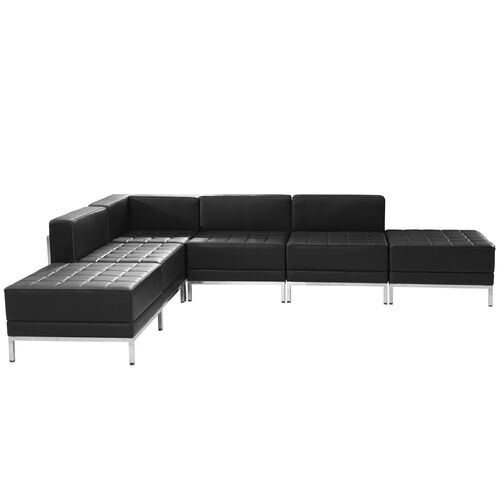Our HERCULES Imagination Series Black Leather Sectional Configuration, 6 Pieces is on sale now.