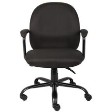 Heavy Duty 300 lb Capacity Black Crepe Task Chair - Black