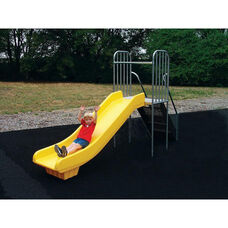Powder Coat Paint Finished Junior Slider with Steel Steps and Bright Yellow Finished Polyethylene Slide - 24