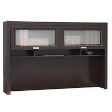 Tuxedo L-Shaped Computer Desk Hutch - Mocha Cherry