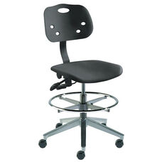 Quick Ship ArmorSeat Series Chair with UV Inhibitor and Cast Aluminum Base - Medium Seat Height
