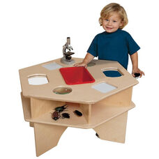 Deluxe Six-Sided Healthy Kids Plywood Science Activity Table with Tuff-Gloss UV Finish - 27