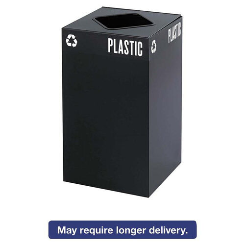 Our Safco® Public Square Recycling Container - Square - Steel - 25gal - Black is on sale now.