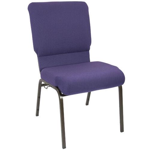 Advantage Eggplant Church Chair 18.5 in. Wide
