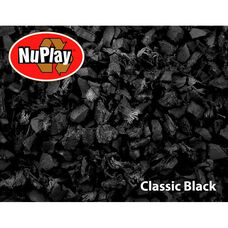 NuPlay Recycled Rubber Loose Fill Mulch - Black - 75 Cubic Feet
