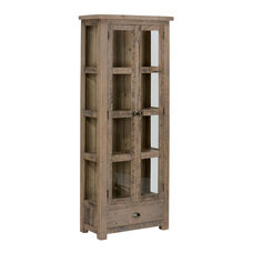 Slater Mill Pine Tall Display Cupboard