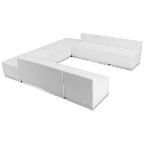 Our HERCULES Alon Series Melrose White Leather Reception Configuration, 8 Pieces is on sale now.