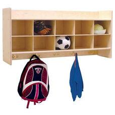 Wall Mountable Baltic Birch Plywood Coat Locker & Cubby Storage Unit with Tuff-Gloss UV Finish - 46.75