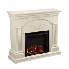 Sicilian Harvest 44.75''W x 40.25''H Electric Fireplace with Fluted Columns - Ivory