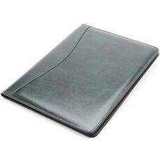 Writing Padfolio Document Organizer - Aristo Bonded Leather - Green