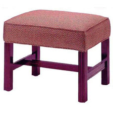 515 Luggage Bench w/ Chippendale Legs & Upholstered Web Seat - Grade 1