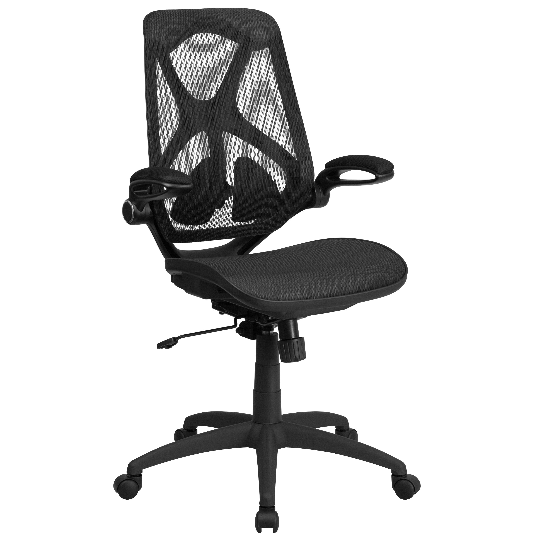 High Back Transparent Black Mesh Executive Swivel Chair With Adjustable  Lumbar, 2 Paddle Control