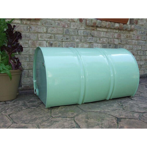 Outdoor Steel Drum Two Person Bench with-out Back Rest
