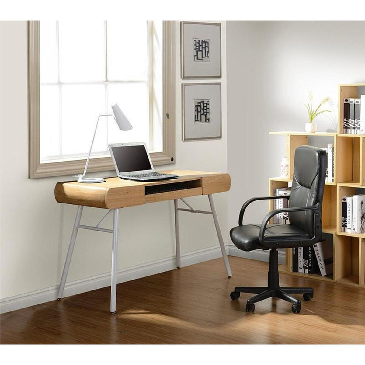 Our Techni Mobili Computer Desk With Storage And File Cabinet Pine Is On Now