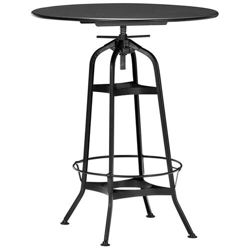 Our Toledo Industrial Black Adjustable Bar Table with Round Top is on sale now.