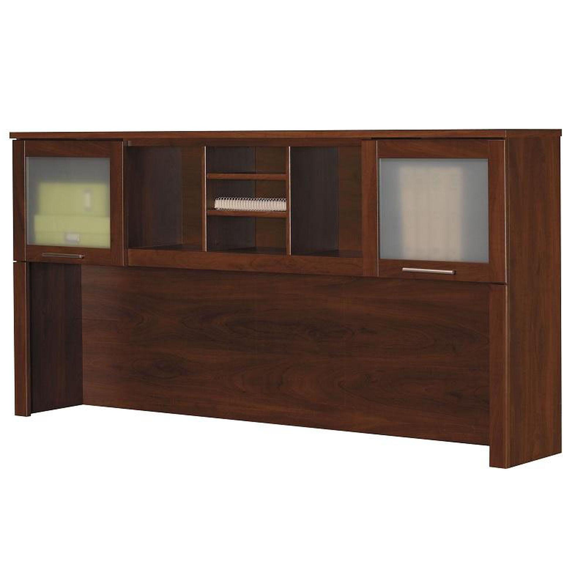 L Shaped Computer Desk Hutch Wc81711 Bizchair Com