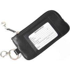 Chic Phone ID Credit Card Wallet - Genuine Leather - Black