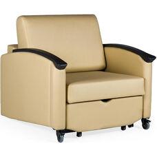 Harmony Closed Arm Sleeper Chair - Vinyl Upholstery