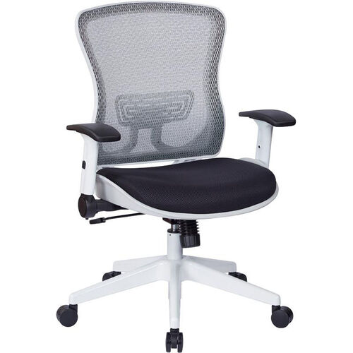 Our Space White Breathable Mesh Back and Padded Mesh Seat Managers Office Chair with Adjustable Flip Arms - Black is on sale now.