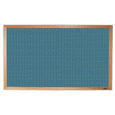 700 Series Tackboard with Wood Frame - Designer Fabric - 48