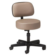 5 Leg Spin Lift Stool - Screw Height Adjustment - Backrest