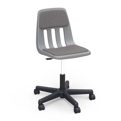 Our 9000 Classic Series Express Graphite Upholstered Task Chair with Gray Polypropylene Seat - 25